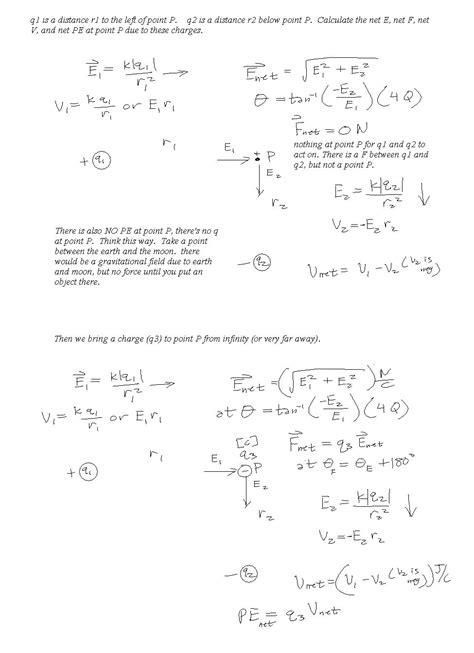 Printables Electrostatics Worksheet Mywcct Thousands Of Printable Activities