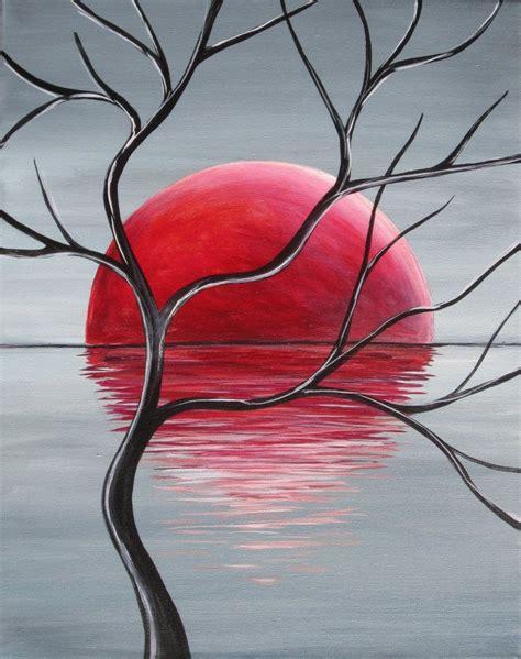 cet artiste inconnu a repr 233 sent 233 pour mon œil un lever de soleil avec un arbre sans branche