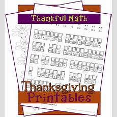 Free Homeschool Printable Thankful Math (reader Request)  3 Boys And A Dog