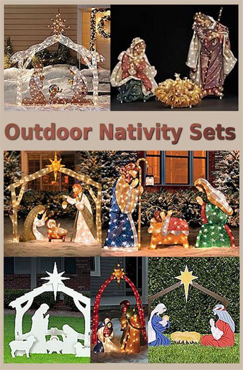 wooden outside nativity set nativity yard decorations a listly list