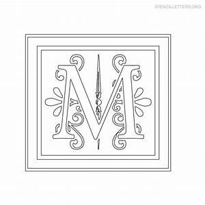 stencil letters m printable free m stencils stencil With decorative letter stencils