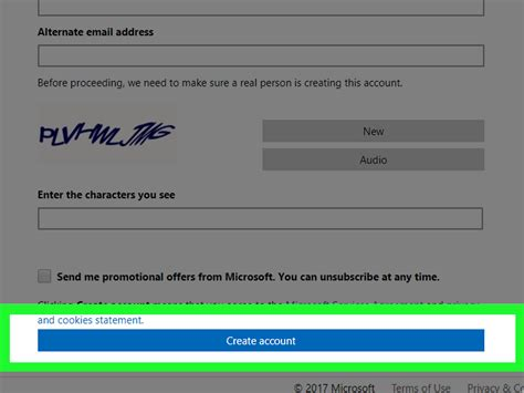 create  outlook email account  steps