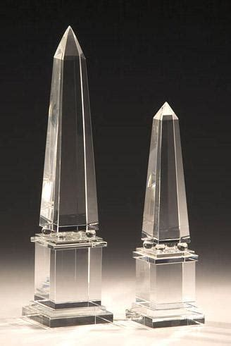 crystal accessories crystal obelisks  solid crystal