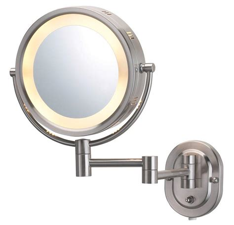 lighted makeup mirror amazon amazon com jerdon hl65n 8 inch lighted wall mount makeup