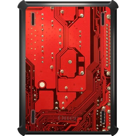 Otterbox Defender For Ipad Pro Air Mini Red Circuit
