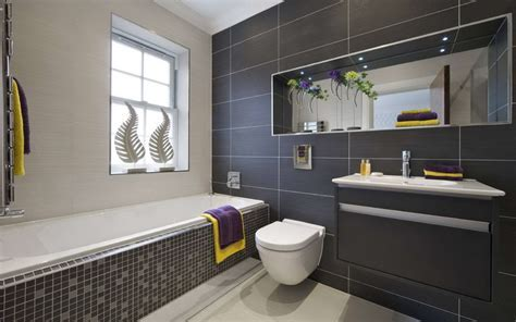 Modern Black Gray And White Bathroom Interior Design   Twipik