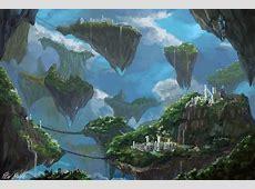 Floating Islands by PeterPrime on DeviantArt