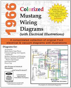 1966 Mustang Colorized Wiring Diagram Ford For Sale