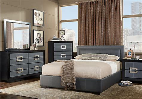 City View Gray 7 Pc King Upholstered Bedroom