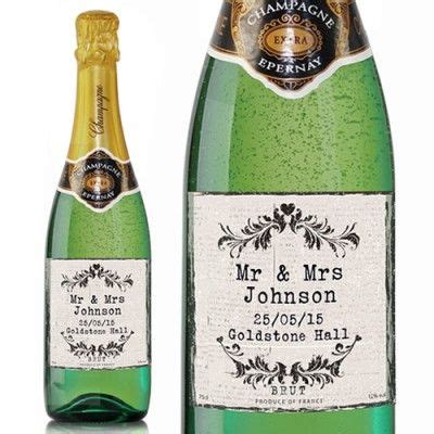 Finding a unique, romantic gift on valentine's day for husbands can tricky. Personalised Vintage Champagne   Personalized wedding ...