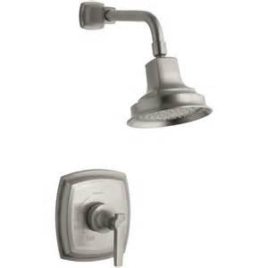 shop kohler margaux vibrant brushed nickel 1 handle shower