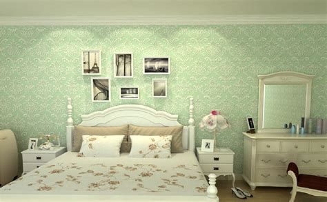 green wallpaper  bedroom gallery