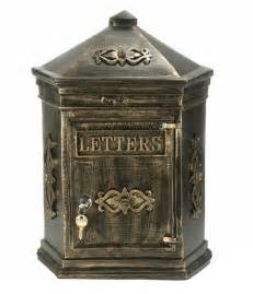 Vintage Style Post Box Antique Bronze Letterbox Mail Box