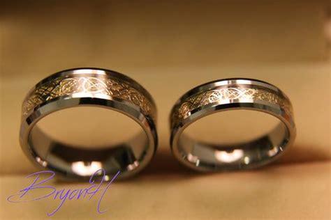 Tungsten Wedding Bands Set Matching Size Tungsten Wedding