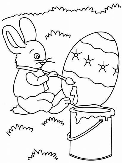 Coloring Painting Pages Sheets Paint Printable Rabbit