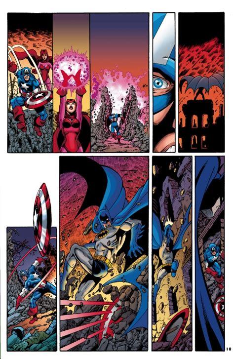 JLA/Avengers page 18, in Mitch Ballard's 1980's ...