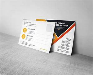 Corporate business postcard design 000458 template catalog for Business post card