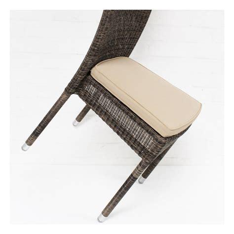 coussin de chaise déhoussable coussin de chaise isabelle en résine coloris beige