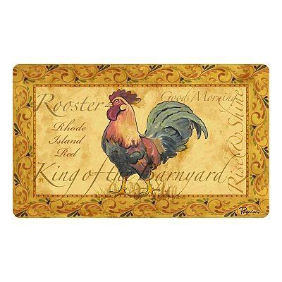 Kitchen Mat Rooster by Country Rooster Kitchen Mat Rooster Linens Things