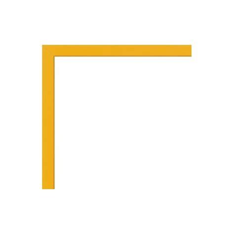 cadre pour poster sur mesure en aluminium jaune avec plexiglas et dos sur cadre photo eu