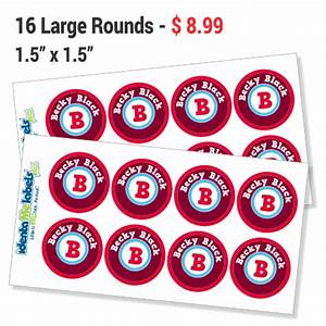 large round labels waterproof sticky labels identame With big round labels