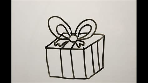 Diy Learn How To Draw A Christmas Gift. Easy Drawings For