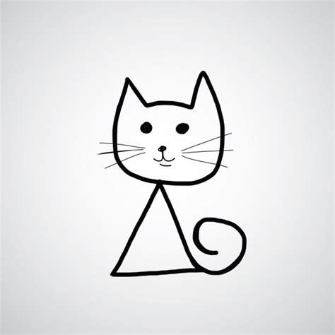 hand zeichnen cartoon katze symbol stockvektor