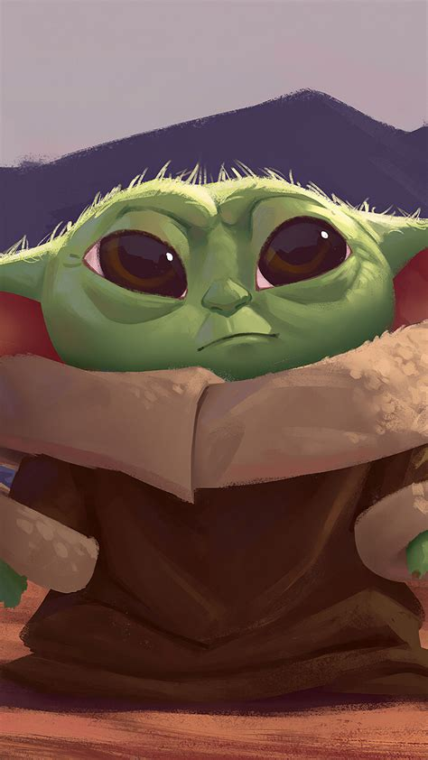 1080x1920 New Baby Yoda 4k Art Iphone 7 6s 6 Plus And