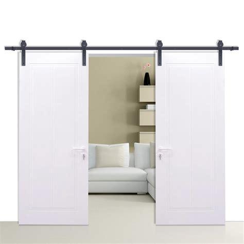 Sliding Closet Door Rails by Sliding Barn Wood Door Closet Hanger Gear Kit Door Track