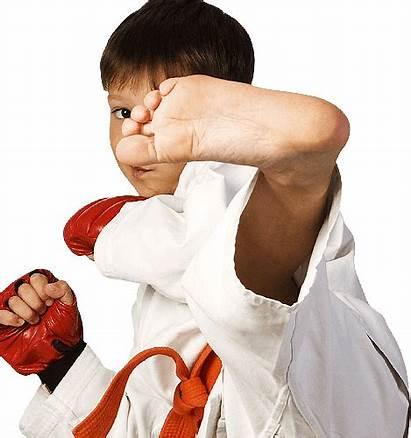 Boy Kicking Karate