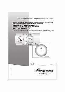 Worcester Mt10rf Operating Instructions