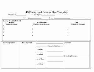 differentiatedlearning just another wordpresscom site With lesson plan template for differentiated instruction