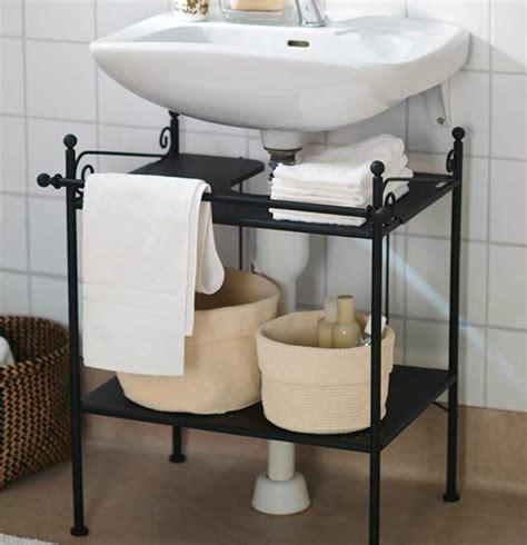 bathroom tidy ideas keep a tidy bathroom with ikea ronnskar sink shelf it s perfect for smaller spaces bathroom