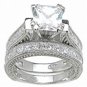 buy plutus partners 925 sterling silver princess cut With princess cut wedding ring sets cheap