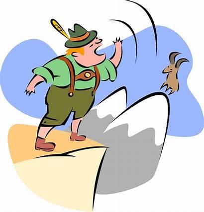 Clipart Yodeling Yodel Swiss Mountain Mountaineer Jodeln