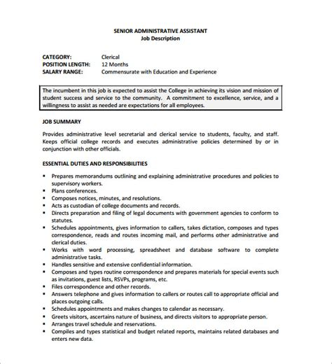 Administrative Assistant Description Resume by Admin Coordinator Resume Admin Coordinator Resume Sles