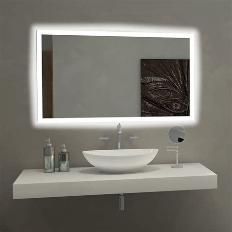 Bathroom Mirror Lights Led by Mirror Rectangle Bathroom Mirror With Led Backlights