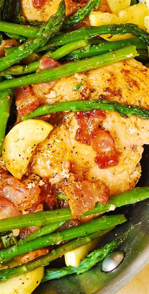 chicken bacon and asparagus recipes chicken asparagus and bacon skillet chicken asparagus asparagus and skillets