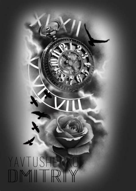 Clock Tattoo Ideas (6) | Clock tattoo, Watch tattoos