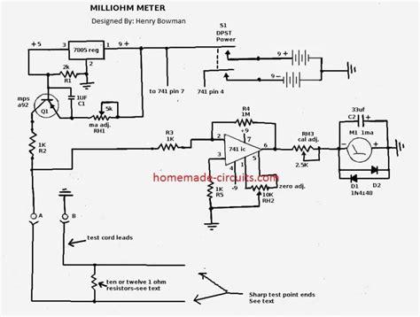 How Make Simple Milliohm Tester Circuit Homemade