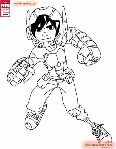 Coloring Hero Pages Hiro Baymax Hamada Printable