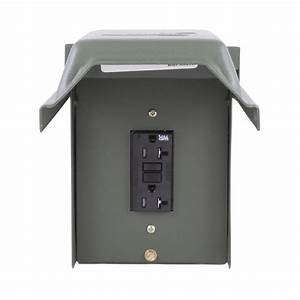 Ge 20 Amp Backyard Outlet With Gfi Receptacle