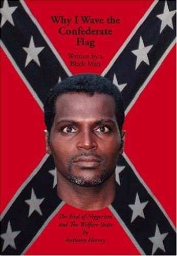wave  confederate flag written   black man