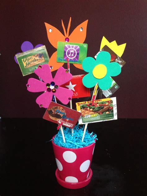 gift card bouquet  teacher appreciation week