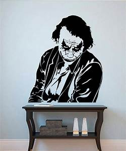 Comics superhero joker cool wall stickers home decor for Awesome cheap wall decals for living room