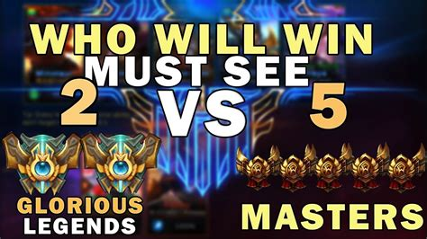 2 Glorious Legends Vs 5 Masters
