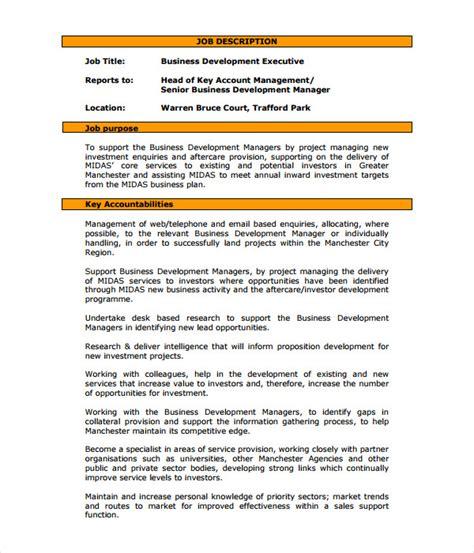 Business Development Description For Resume by Business Development Manager Description Business