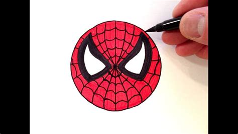 draw  spider man smiley face easy  beginners