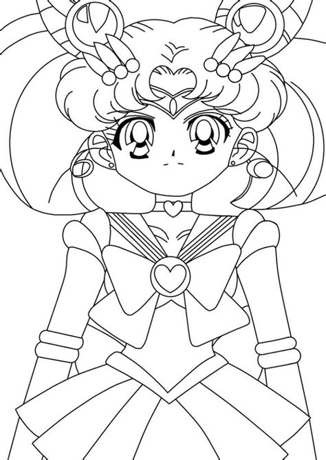 sailor mini moon coloring pages coloring home