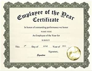 award certificates diploma word templates clip art With employee of the year certificate template free